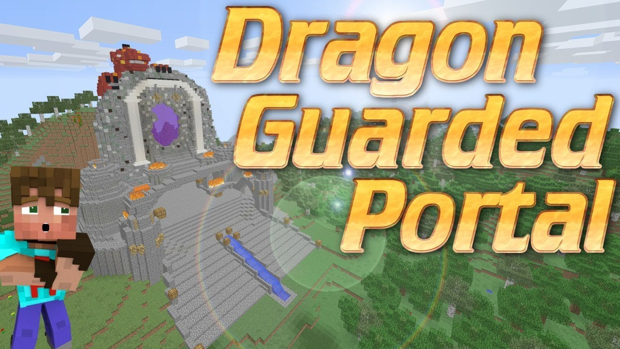 Minecraft How To Make A Custom Nether Portal Guarded By A Dragon In Minecraft Freestyle Tutorial