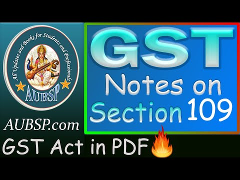 AUBSP | Appellate Tribunal Section 109 CGST Act 2017 - Appeals and Revision PART-2