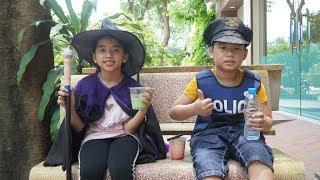 Trò Chơi Phù Thủy và Cảnh Sát   Người Tốt - Kẻ Xấu   Bé Minh MN Toys
