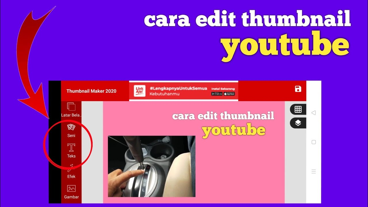 CARA EDIT FOTO COVER YOUTUBE DI HP ANDROID - YouTube
