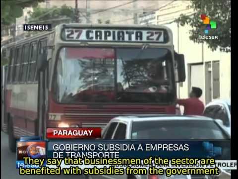 Paraguayans demand reduction of public transport fares