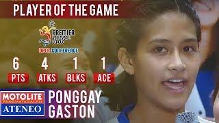 PVL OC 2018: Ponggay Gaston leads Ateneo to earn PoG as they beat Tacloban | ADMU vs. TAC