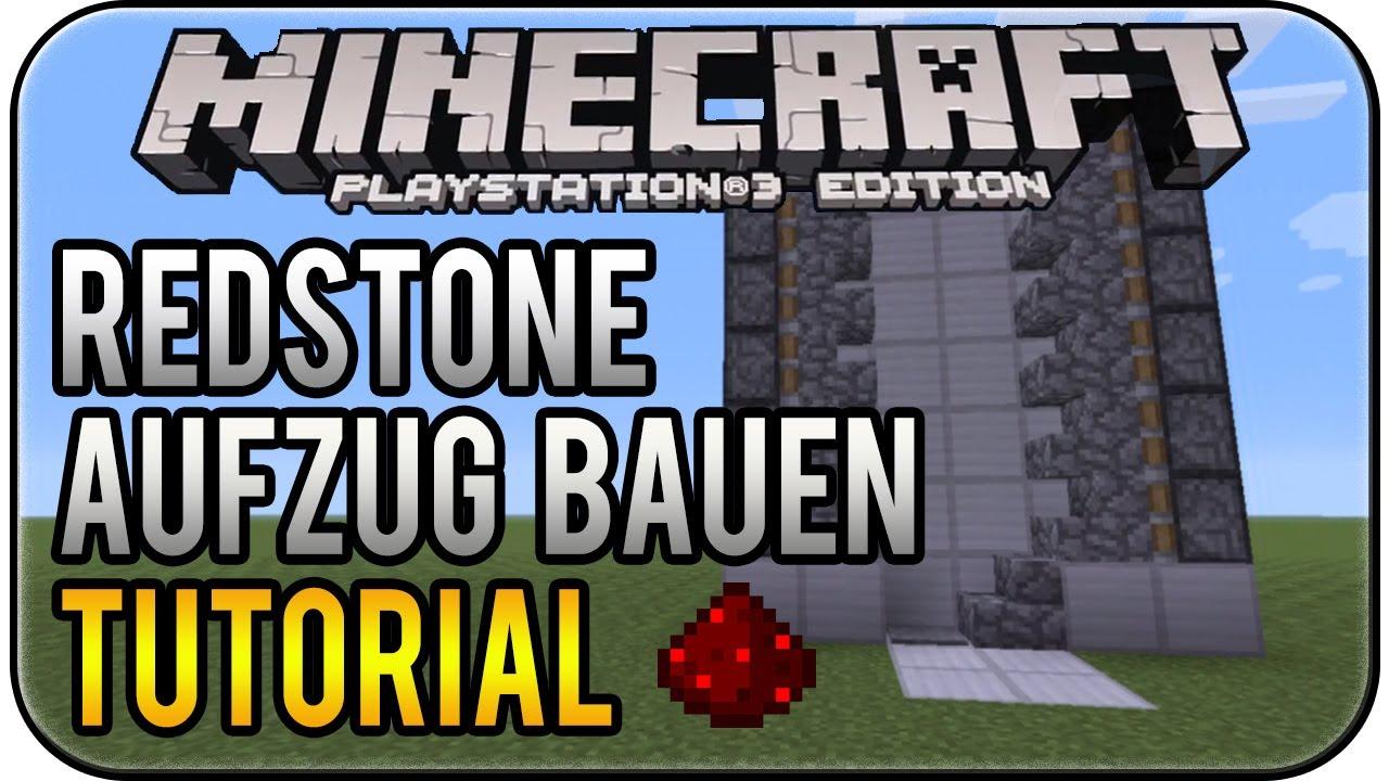 Minecraft PS Edition RedstoneFahrstuhl Bauen Tutorial Deutsch - Minecraft redstone hauser deutsch