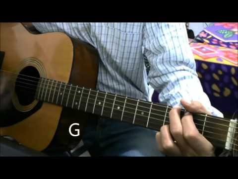 Raabta + Dheere Dheere Honey singh - Same chords - Guitar Cover Lesson Chords Beginners Bollywood