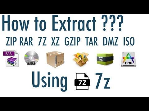 How to extract ZIP, RAR, 7Z, XZ, BZIP2, GZIP, TAR, DMZ, ISO ... files using 7z software