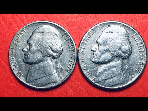 US 1972 5 Cents Denver And Philadelphia Mint Nickel United States