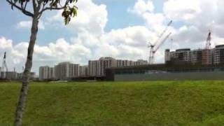 Sengkang Singapore open field adjacent to central , chengli