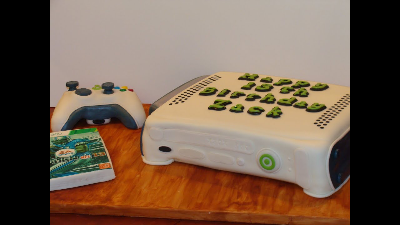 XBOX 360 Cake Tutorial YouTube