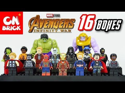 16 BOXES LEGO AVENGERS INFINITY WAR SY 1060 Unofficial LEGO
