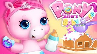 Fun Pony Care Kids Games - Pony Sisters Christmas - Fun Animal Dress Up, Makeover Mini Game For Kids
