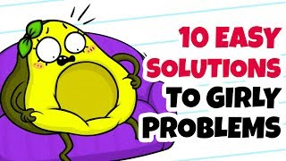 10 Easy Solutions To Girly Problems -Funny Cartoons thumbnail