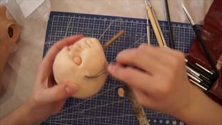 Кукла -ребенок  часть 2. Лепка головы.