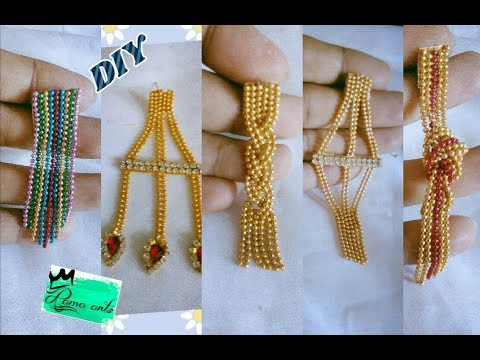 5 DIY ideas of earrings - Making with ball chain | jewellery tutorials