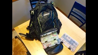 Backpack Tackle Box For Fishing ~ Review, Unbox & Organize ~ Spider wire