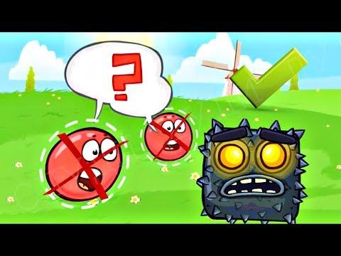 ИГРА ЗА БОССА - КРАСНЫЙ ШАРИК 4 - НОВЫЙ ПЕРСОНАЖ ! ПОДЗЕМНЫЕ ХОДЫ мультик  шар RED BALL 4 Для детей