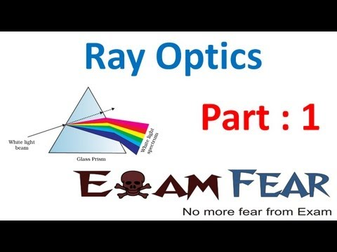 Physics Ray Optics part 1 (Introduction) CBSE class 12
