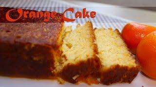 Orange Cake - Eggless  - Vegetarian By Crazy4veggie.com