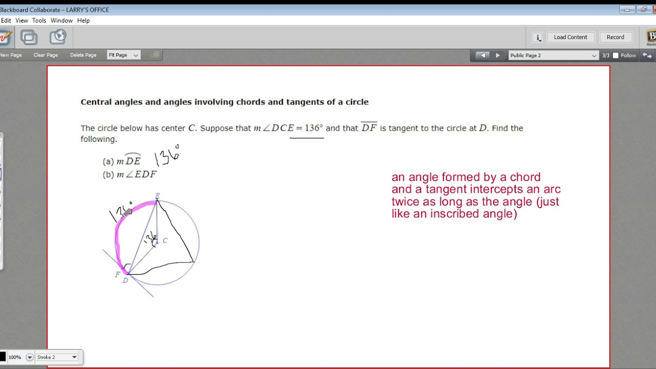Central angles and angles involving chords and tangents youtube central angles and angles involving chords and tangents hexwebz Choice Image
