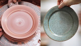 How to Throw aฑd Trim a Small Pottery Plate — Narrated Version