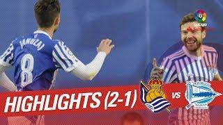 Resumen de Real Sociedad vs Deportivo Alavés (2-1)