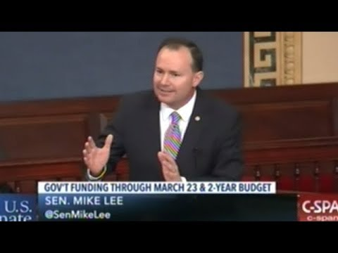 """Senator Mike Lee """"Who Benefits From This! Certainly NOT The American People!"""""""