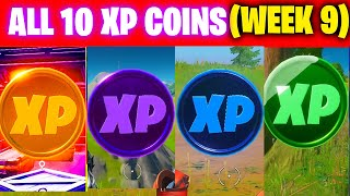 All XP COINS LOCATIONS IN FORTNITE SEASON 5 Chapter 2 (WEEK 9)