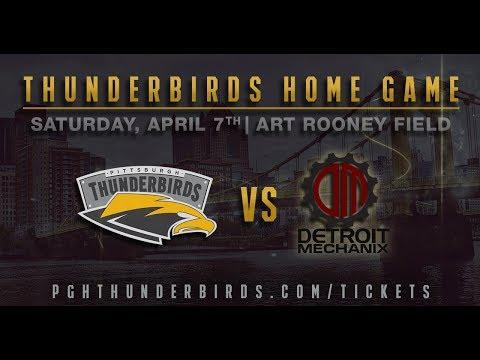 Detroit Mechanix @ Pittsburgh Thunderbirds  - Full Game