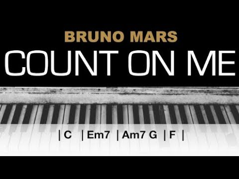 Bruno Mars - Count On Me Karaoke Chords Acoustic Piano Cover Instrumental Lyrics