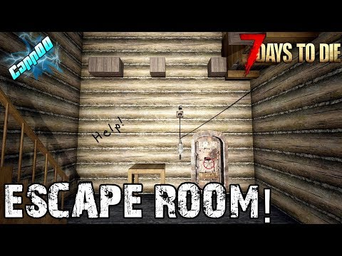 7 Days To Die - Escape Room - Can YOU Get Out Alive?!  (Alpha 18)