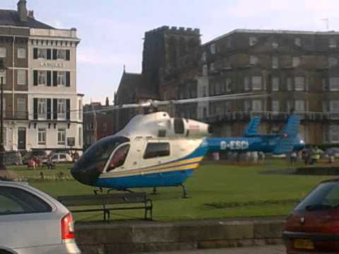 North Yorkshire Air Ambulance in Whitby, The Crescent.