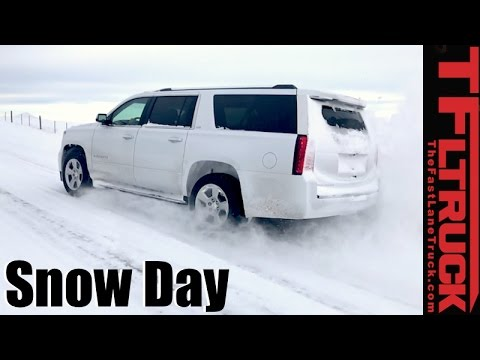 4x4 vs 4-Auto vs Snowstorm: Chevy Suburban 4WD Snow Day Review