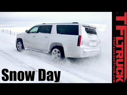 4x4 vs 4-Auto vs Snowstorm: Chevy Suburban 4WD Snow Day Review