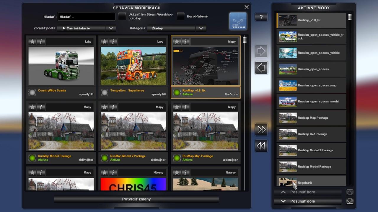 ETS2 RUSMAP V1 8+Russian open spaces v5 2+TruckSim Map v 6 6 2 +
