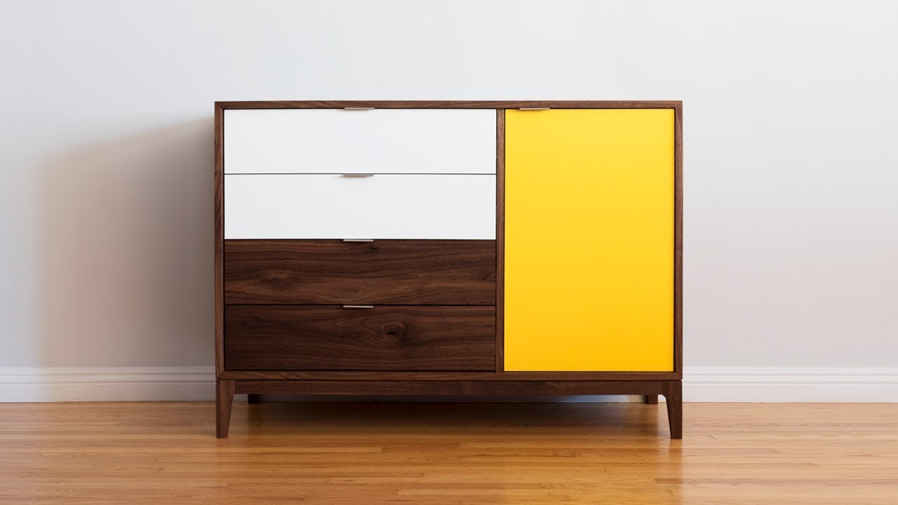 How to build a mid century modern dresser woodworking