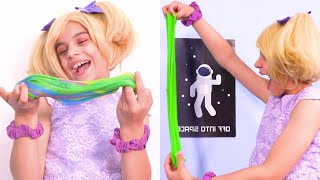 Learn Colors With Slime - Princesses In Real Life | Kiddyzuzaa