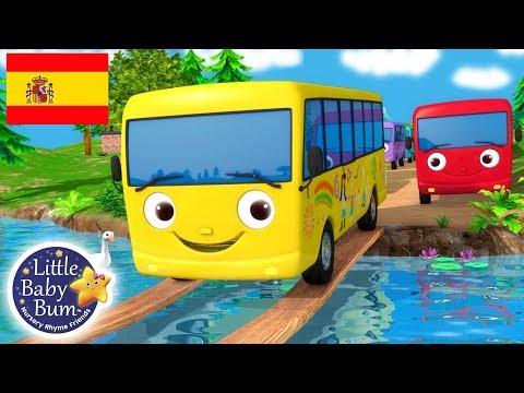Canciones Infantiles   Diez Autobuses   ¡Y más Dibujos Animados!   Little Baby Bum en Español