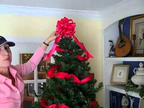 how to decorate a christmas tree using ribbons and bows - How To Decorate A Christmas Tree With Bows