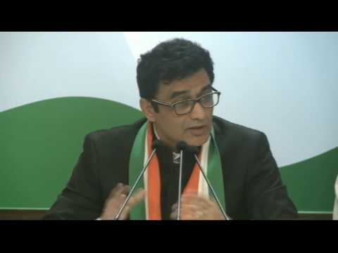 AICC Press Briefing by Ajoy Kumar at Congress HQ, January 23, 2017