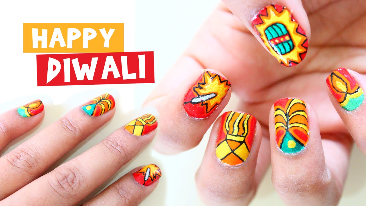Passtime Nails 04 Diwali Nail Art Indian Festival Nail Art Time