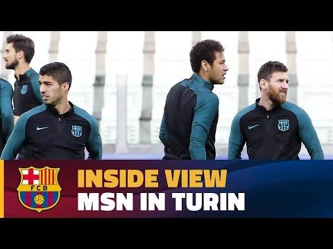 [BEHIND THE SCENES] Messi, Suárez & Neymar Jr. journey in Turin