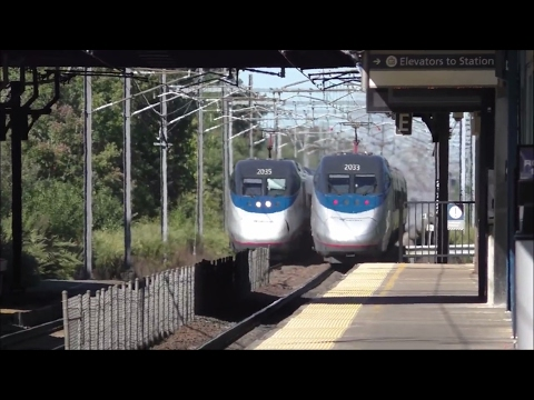 Amtrak & MBTA HD 60fps: Late-Afternoon NEC Providence/Stoughton Line Action @ Route 128 (9/15/16)