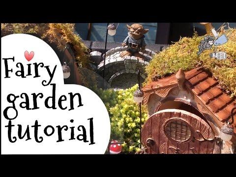 DIY Fairy garden tutorial, how to make a  miniature hobbit fairy garden.
