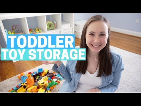 TODDLER TOY STORAGE & ORGANIZATION IDEAS! Ikea Kallax for Playroom + Nursery