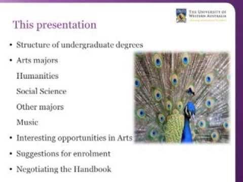 UWA Bachelor of Arts 2014 - Understanding your degree and the handbook