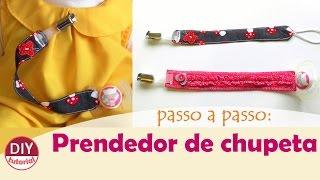 Prendedor para chupeta – como fazer (pacifier clip) (DIY Tutorial)