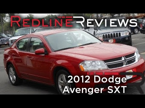 2012 Dodge Avenger SXT, Review, Walkaround, Start Up, Test Drive