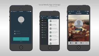 Speed Art - A Social Media App UI Design - Im Back