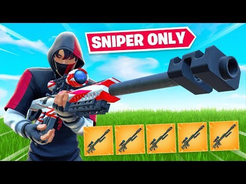 The SNIPER ONLY Challenge In Fortnite!