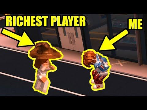 RICHEST Jailbreak Player is CAMPING COP??!! | Roblox Jailbreak Arrest challenge