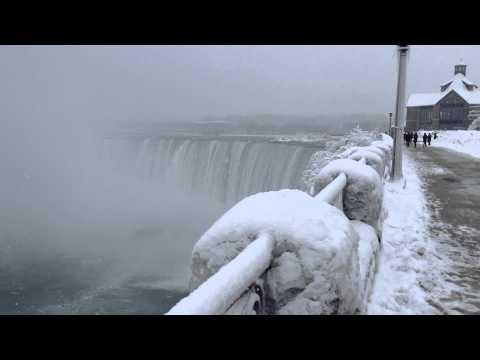 Niagara Falls Canada Winter View